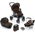 concord-conjunto de carrinho de passeio fusion travel mocca